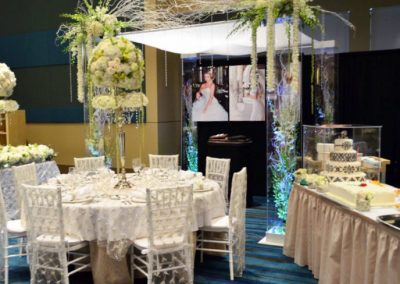 Acrylic Wedding Canopy Chuppah Rental at the West Palm Beach Bridal Show