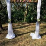 Smooth Dark Wood Wedding Arch
