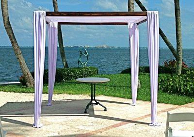 Modern Elegance Wedding Canopy Chuppah Mandap Rental Miami South FL