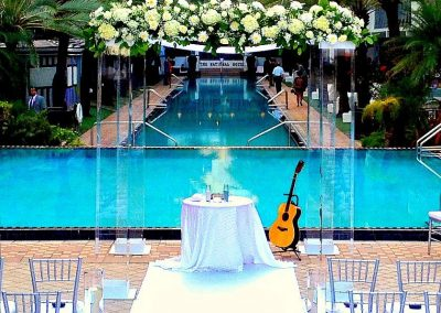 Chic: Modern and Contemporary Acrylic Plexiglass Canopy/Chuppah at the National Hotel South Beach Miami