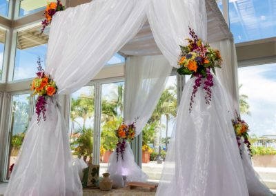 classic chuppah with extra drapes