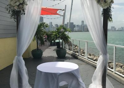Wooden Wedding Chuppah Canopy Arch with Draping Rentals in South FL